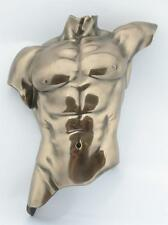 WU72883A1 Man~Male Torso~Wall Plaque~Nude Bronze Statue Sculpture Artistic Body