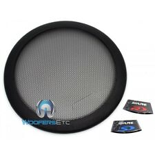 "ALPINE KTE-12G 12"" PROTECTIVE SUB GRILLE TYPE R S E SUBWOOFER SPEAKER COVER NEW"