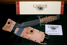 Camillus USA Fighting Knife & Sheath, Stone Circa-1980's & Packaging & Paperwork