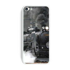 Steam Train Engine Locomotive - Skin Sticker Case for Apple iPhone 5C - Set of 2
