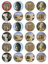 x24 Ancient Greece - Greek Civilisation Cupcake Topper on Edible Rice Paper