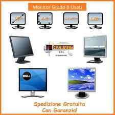 Monitor PC COMPUTER LCD DISPLAY 19 POLLICI BIANCO HP DELL SAMSUNG USATO GRADO B