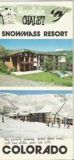 Montain Chalet Snowmass Resort Colorado Brochure