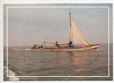Cpa Carte postale la Mer Bateau de pêche Voilier