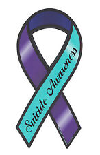 Magnetic Bumper Sticker - Suicide Awareness - Ribbon Shaped Support Magnet