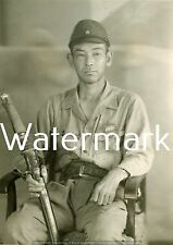 MODERN REPRINT WWII JAPANESE PHOTO: PACIFIC WAR ARMY SOLDIER WITH WAR SWORD!!