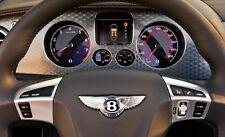 Bentley Continental GT/GTC 3 Spoke OEM Leather Steering Wheel White Stitching
