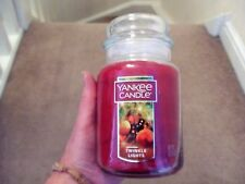 "Yankee Candle Large Jar - Twinkle Lights "" USA Exclusive- Deerfield Label VHTF-"