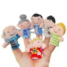 6pc/Set Baby Kids Play Game Learn Story Family Finger Puppets Toys Plush Fun