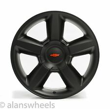 "4 NEW Chevy Suburban Tahoe LTZ Matte Black 20"" Wheels Rims Red Bowtie 5308"