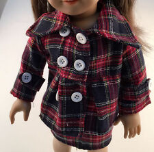 "Fits American 18"" Girl Doll Clothes Coat Skirt Plaid Corporate Work Costume NEW"
