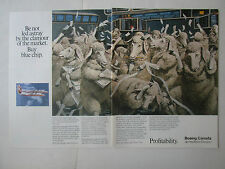 4/89 PUB DE HAVILLAND CANADA BOEING DASH 8 AIRLINER MOUTON SHEEP PROFIT AD