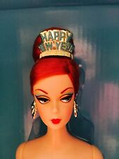 "NRFB Gold Label ""Happy New Year"" Holiday Hostess Collection Barbie Doll."