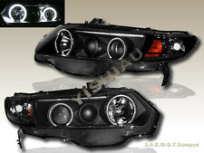 06 07 08 HONDA CIVIC BLACK CCFL HALO PROJECTOR HEADLIGHT 2 DOOR  ANGELEYES NEW