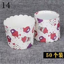 New 50pcs Paper Cake Case Muffin Baking Cup Wedding Xmas Party 7o