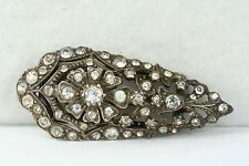 ANTIQUE AUSTRO HUNGARIAN SILVER PASTE DRESS SCARF CLIP