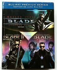 BLADE/BLADE II AND BLADE TRINITY TRILOGY BLU RAY + SLIPBOX FREE SHIPPING