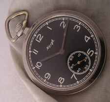 MILITARY WW2 Years Kienzle German Pocket Watch A+ - Lovely Dial Just Serviced