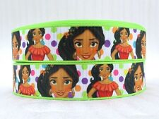"BTY 1"" Princess Elena Disney Grosgrain Ribbon Hair Bow Party Lanyards Girls Lisa"