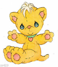 """3"""" PRECIOUS MOMENTS PETS CAT KITTY  CHARACTER PEEL STICK WALL BORDER CUT OUT"""
