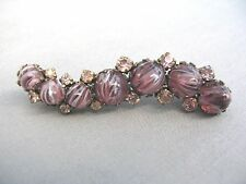 A very unusual and beautiful large purple cabuchon stone brooch marked 41