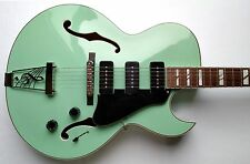 Dean Palamino Archtop Electric Guitar Sea Green Hollowbody P-90's w/HSC