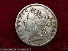 1894 Straits Settlements Beautiful Coin 10 CENTS