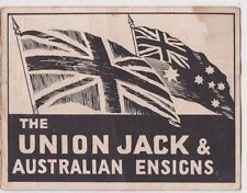 WW1 patriotic The Union Jack & Australian Ensigns booklet with flag images