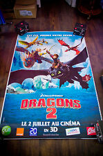 DRAGONS 2 Huge Giant 4x6 ft D/S French Movie Poster Original 2014