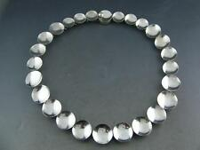 RARE Mexican Sterling ANTONIO PINEDA Necklace Modernist concave circular TAXCO