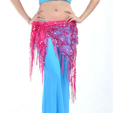 New Belly Dance Costume Tribal Triangle Sequins Tassel Hip Scarf Wrap Skirt Belt