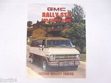 1981 GMC Rally STX Van Gaucho G1500 G2500 G3500 Sales Brochure Catalog