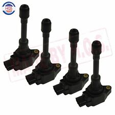 SET of 4 Ignition Coil KIT For 07-11 Nissan Altima Cube Rogue Sentra Versa UF549