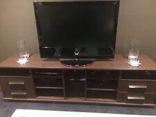 Dark Brown Very Long TV Unit