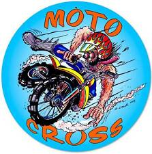 Motorcycle Monster Moto Cross Metal Sign Man Cave Garage Club Wall Decor MLK071