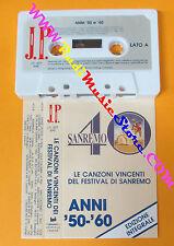 MC LE CANZONI VINCENTI DEL FESTIVAL DI SANREMO compilation 50-60 no cd lp dvd