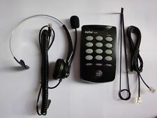 CallTel T100-A Desk Headset Telephone for Tone Dialling with Redial Mute & Flash