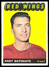 1965 66 TOPPS HOCKEY #48 ANDY BATHGATE VG DETROIT RED WINGS CARD FREE SHIP USA