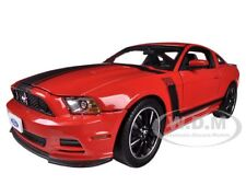 2013 FORD MUSTANG BOSS 302 RED 1/18 DIECAST MODEL CAR SHELBY COLLECTIBLES SC454