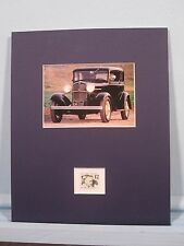 Ford Automobiles - the 1932 Ford V-8 Model 18 & Henry Ford Stamp