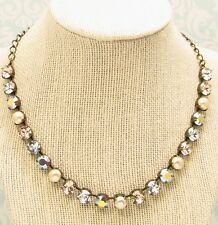Cup Chain Necklace, SILKEN PEARL, Necklace made with Swarovski Crystals, PEARLS