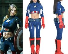The Avengers Captain America Cosplay Costume Female Edition Custom Made