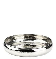 Vintage Moroccan Style Hammered Silver Metal Candle Serving Tray NEW 33cm