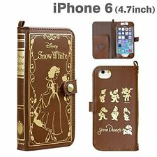 iPhone 6 iPhone 6s Leather Wallet Case Old Book Disney Snow White Hamee  Japan