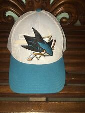 NWOT Reebok NHL Center Ice San Jose Sharks adjustable trucker style hat cap