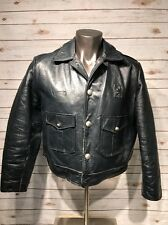 Vintage Chicago Police Leather Jacket Motorcycle Kale Uniforms 44