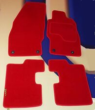 VAUXHALL CORSA D & SRi 2007 - 2015 BRIGHT RED CARPET CAR  MATS WITH FRONT CLIPS