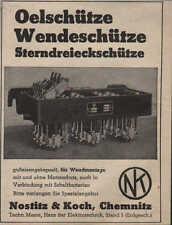 CHEMNITZ, Werbung / Anzeige 1940, Nostitz & Koch Oel-Wende-Sterndreieck-Schütze