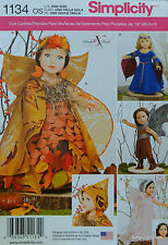 "Simplicity 1134 PATTERN for 18"" DOLL CLOTHES COSTUME fits American Girl Doll NEW"