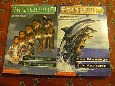 2 for 1 - price Animorphs: THE SECRET & THE MESSAGE by K. A. Applegate (1997 PB)